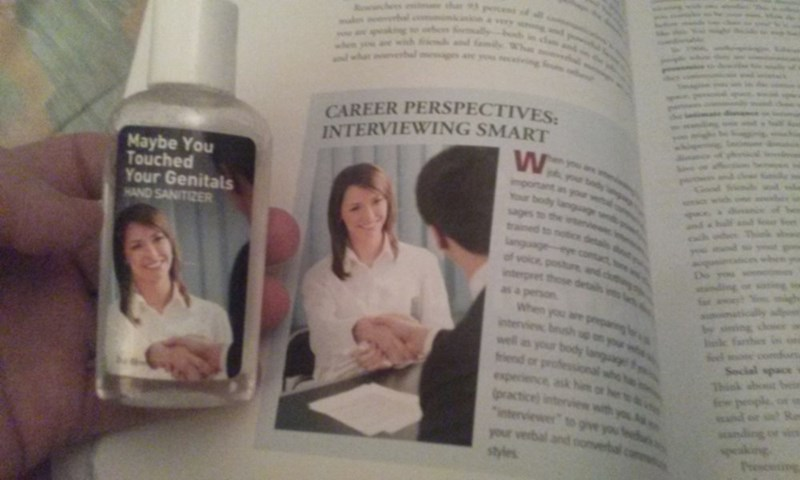 stock photo textbook hand sanitizer