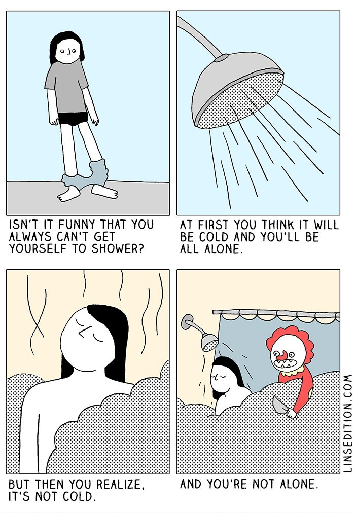 web comics showers thoughts That Doesn't Make Me Feel Better