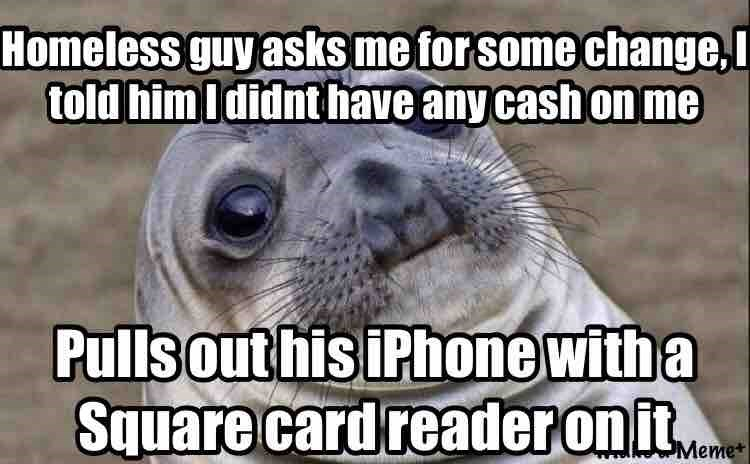 homeless awkward moment seal - 8747066368