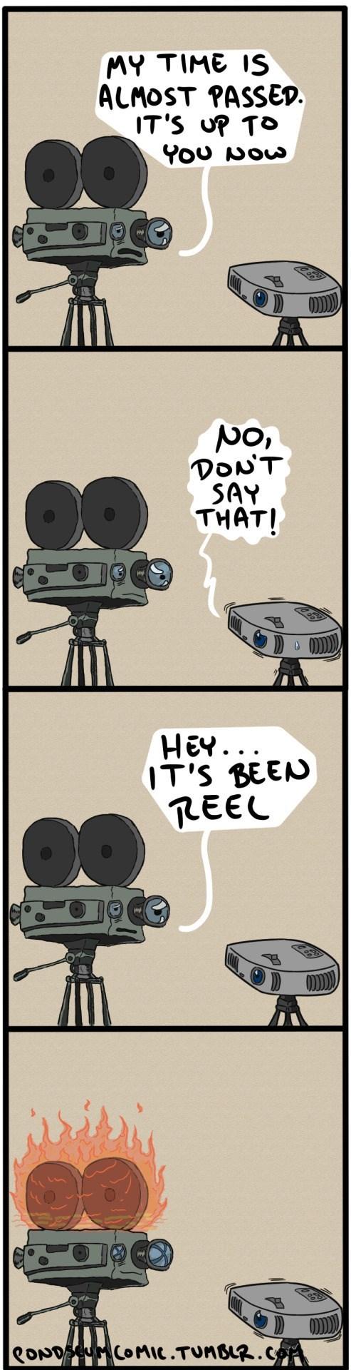 web comics technology puns I Am Gone But My Puns Live On