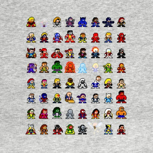 design 8-bit superheroes 8-Bit Marvel Heroes