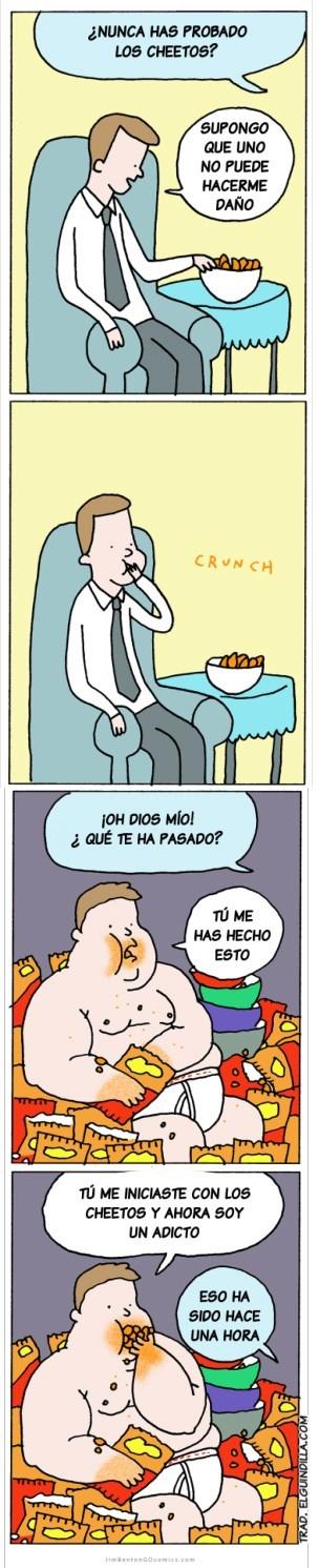 comer cheetos