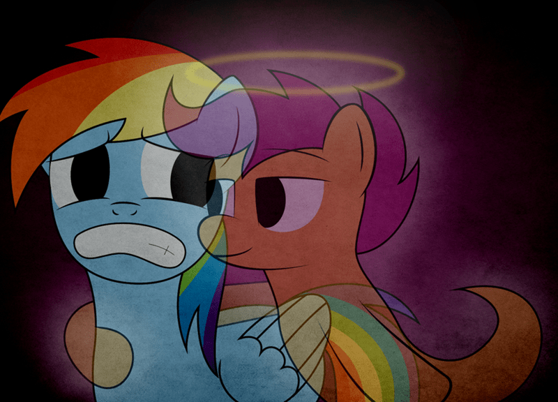 spoopy,ghosts,Scootaloo,rainbow dash