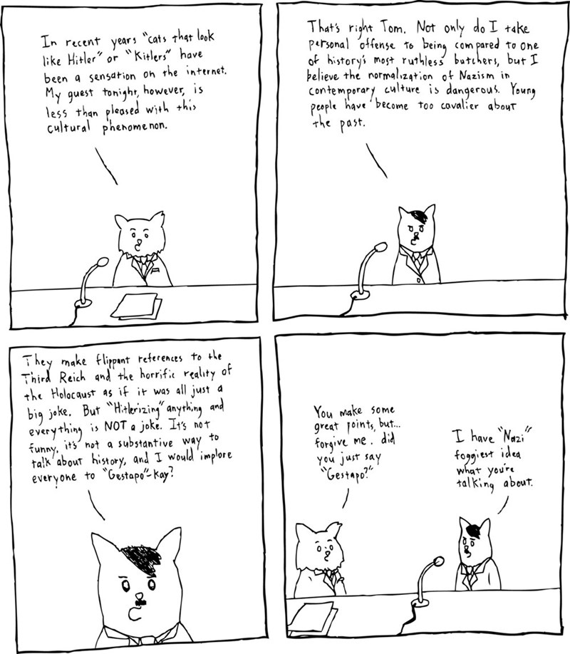 web comics hitler cats Wait, Didn't You Just Say...