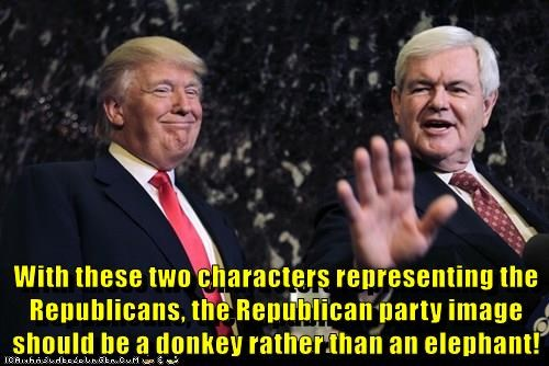donald trump newt gingrich republican