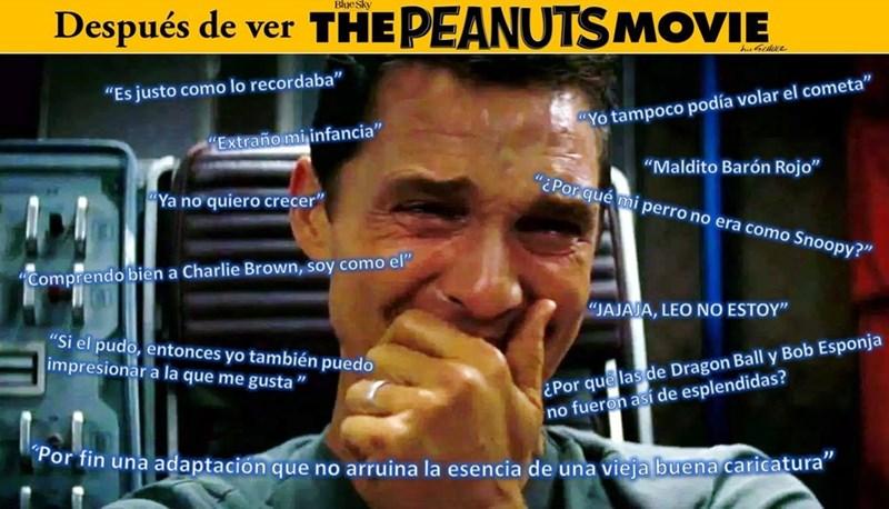 despues de ver the peanuts