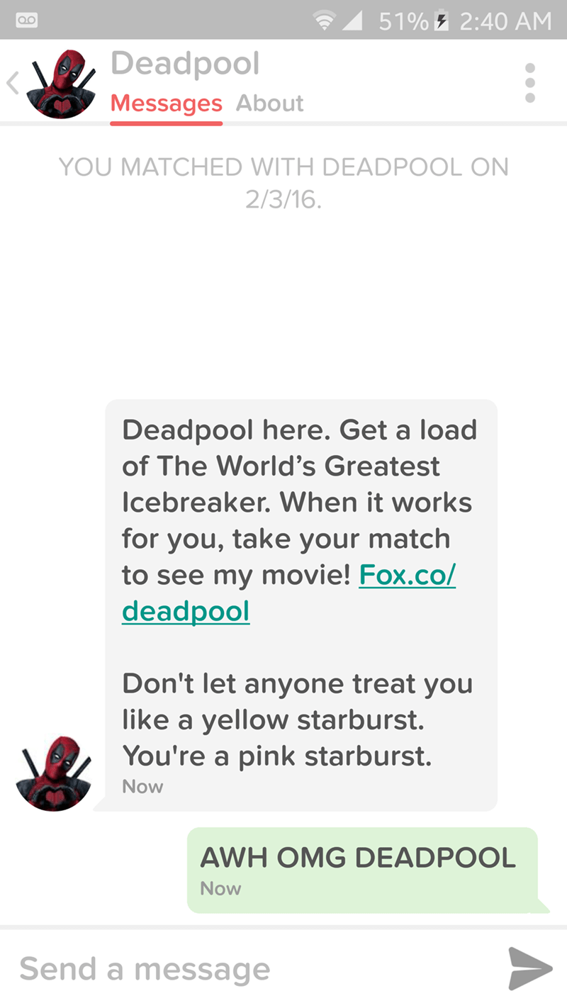deadpool,tinder,superheroes