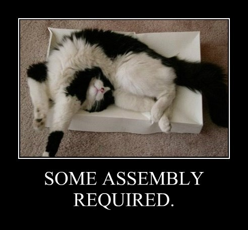 SOME ASSEMBLY REQUIRED.