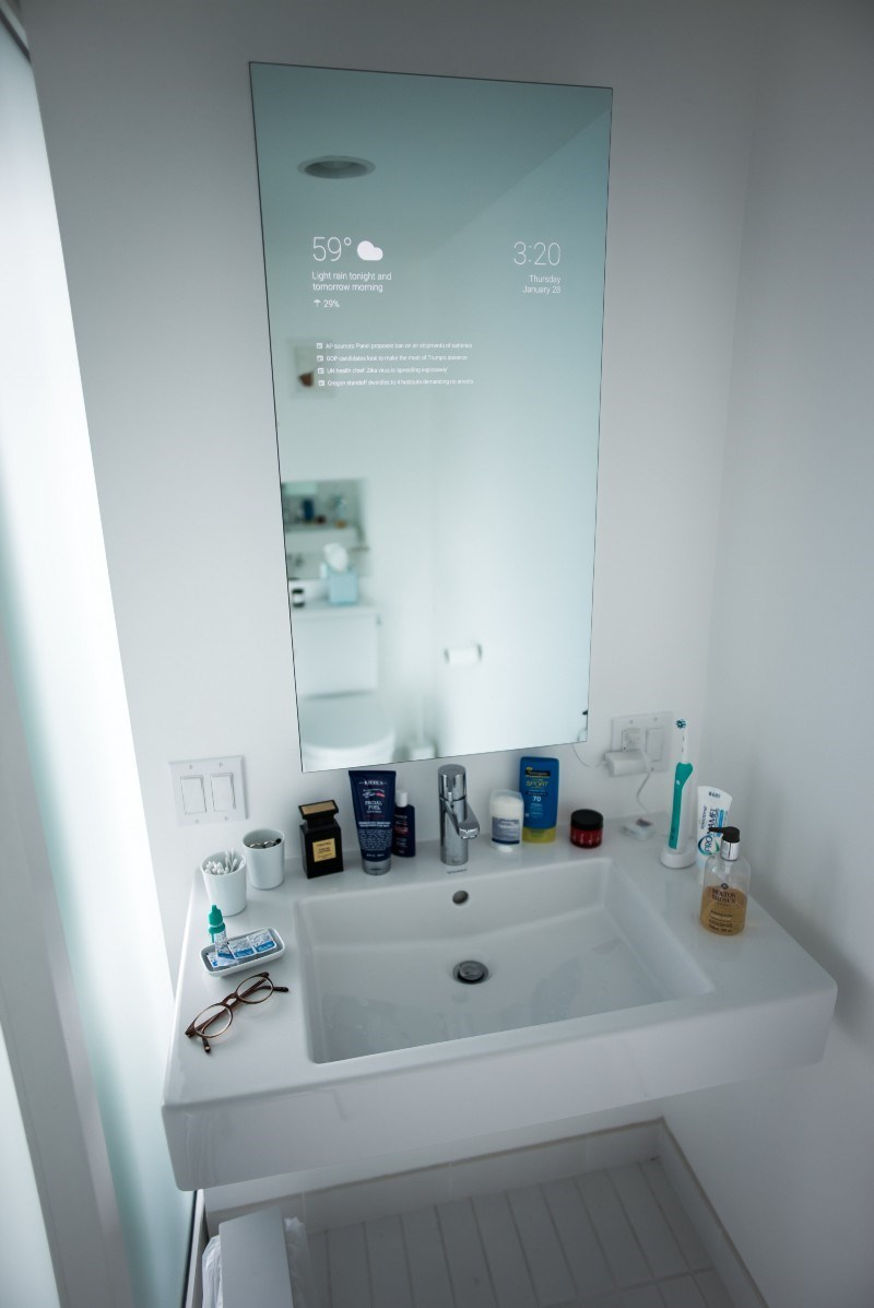 android future movies A Man Created a Bathroom Mirror That Looks Like the Future