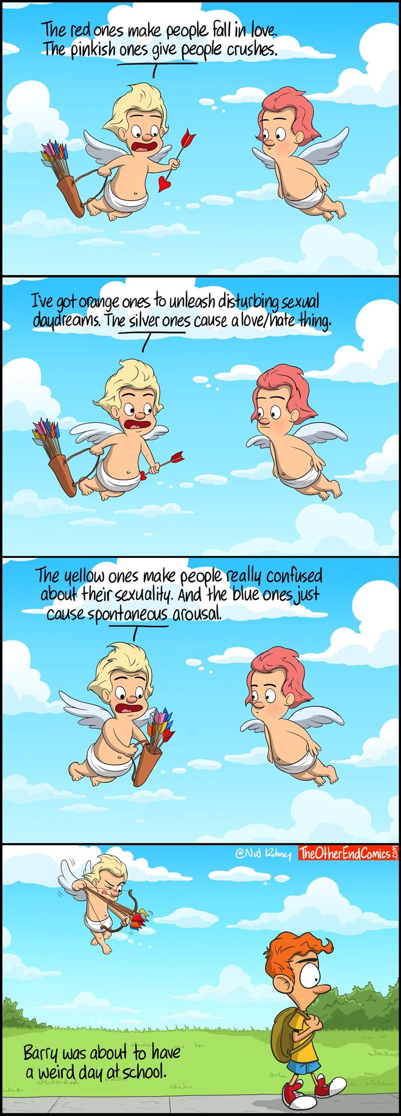 web comics cupid growing up Ah, Puberty