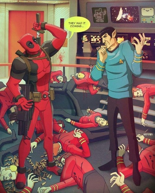 deadpool star trek red shirt Just Because They're Disposable Doesn't Mean You Had to Dispose of Them