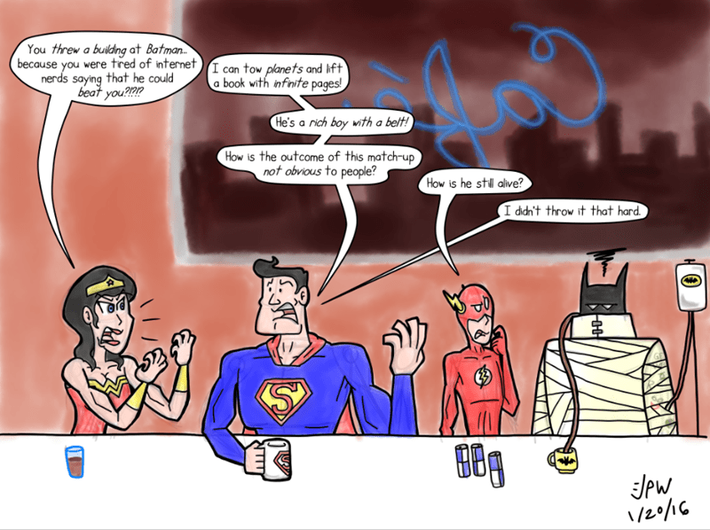 web comics batman v superman Superman Has a Point