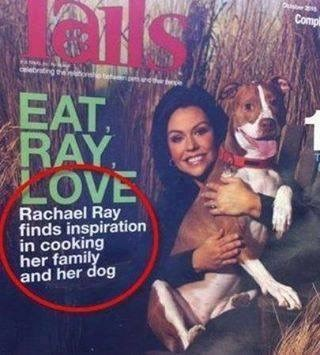 dogs FAIL Rachel Ray magazine food spacing