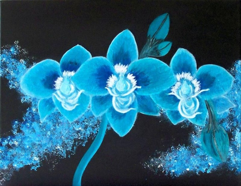 My latest painting called Blooming Orchid