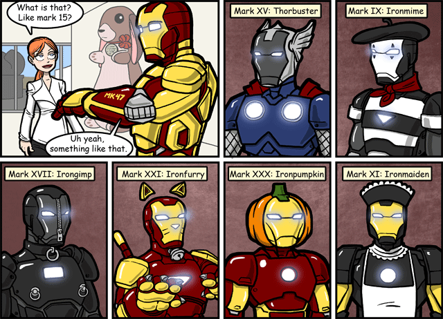web comics ironman Some of These Are Just Conceptual