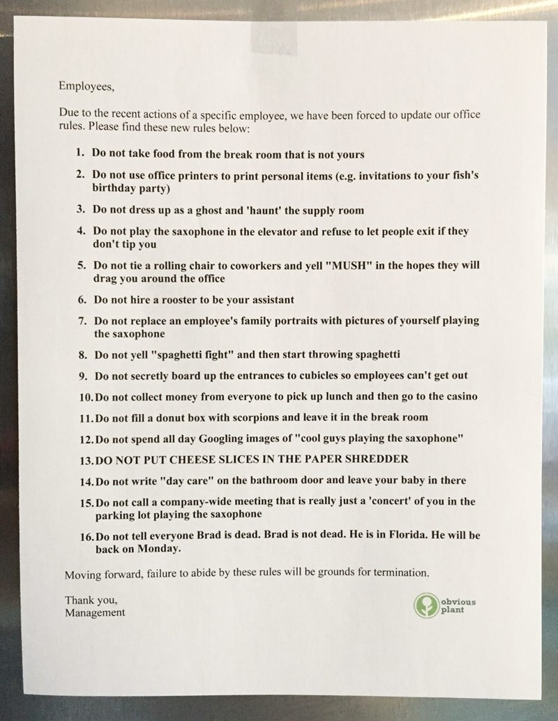 trolling memes fake office notice