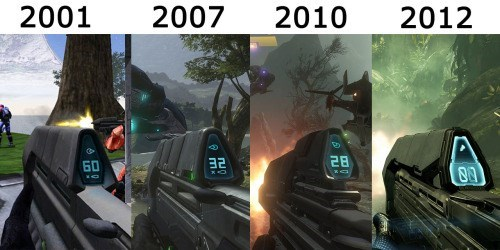 halo 2001 to 2012