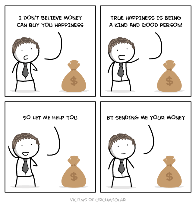 happiness money web comics