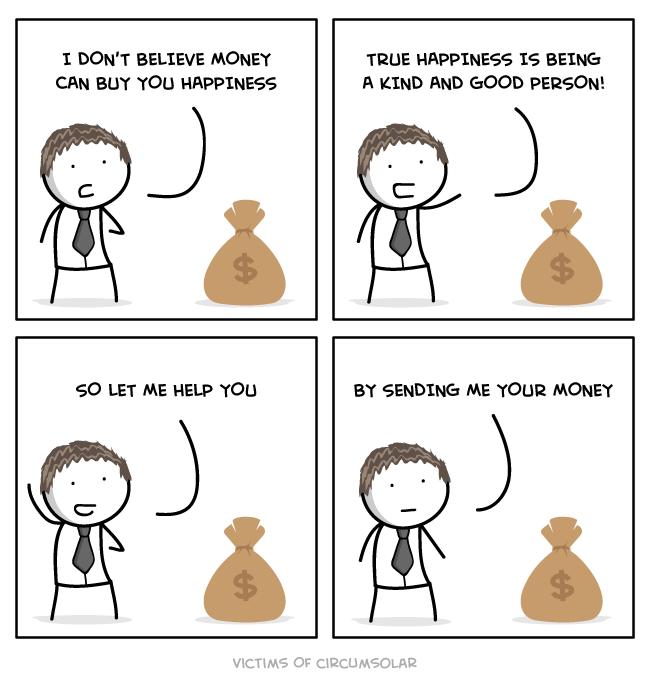 happiness money web comics - 8748284160