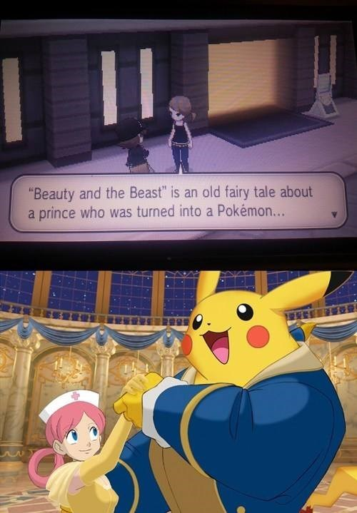pokemon memes pikachu beauty and the beast