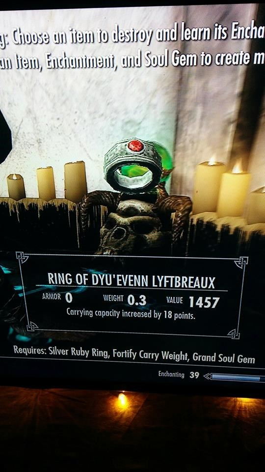 skyrim ring of do you even lift bro