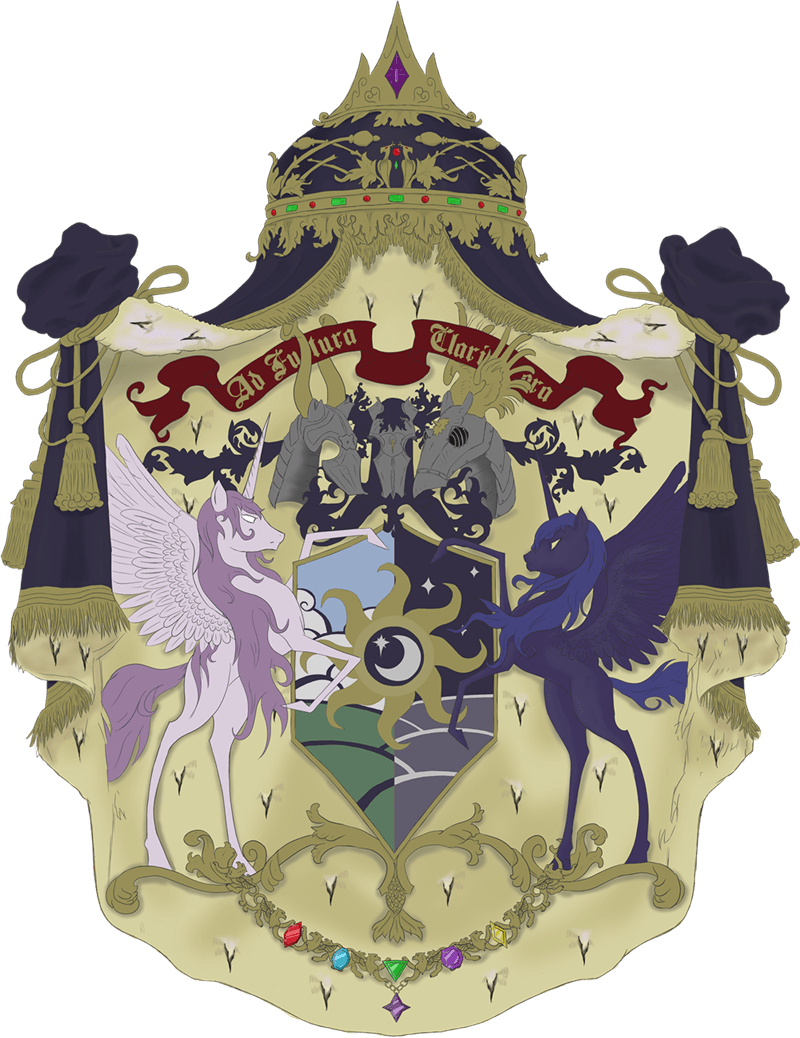 princess luna,coat of arms,princess celestia