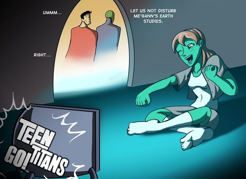 teen titans superheroes superman - 8748423424