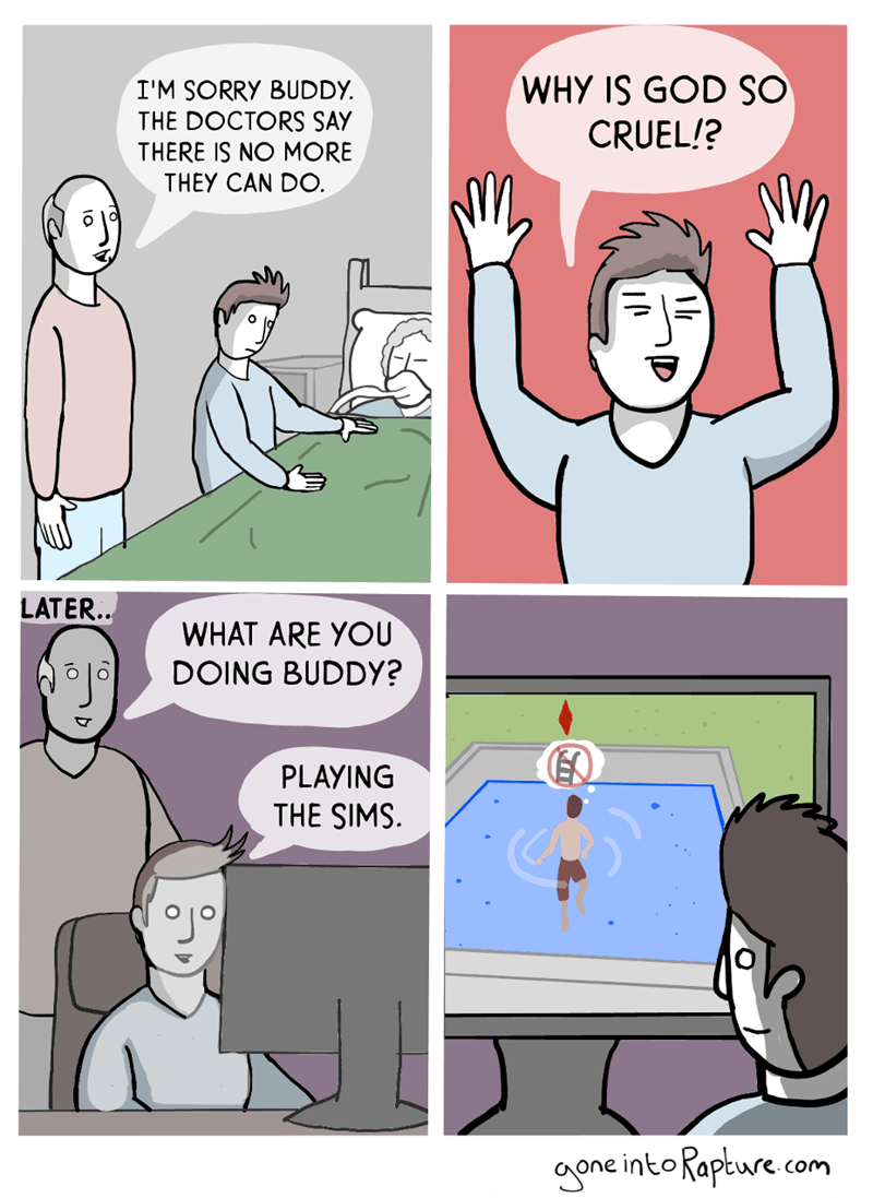 web comics the sims god I Guess That's Why