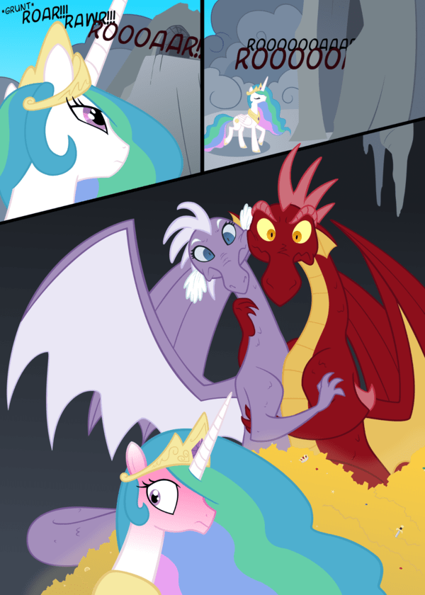 dragon,princess celestia