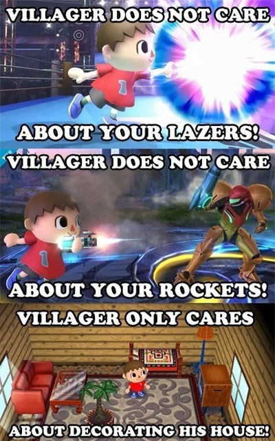 animal crossing,super smash bros,villager