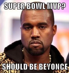 SUPER BOWL MVP?  SHOULD BE BEYONCE