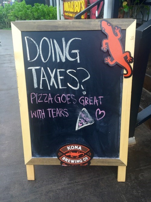 sign,IRL,taxes