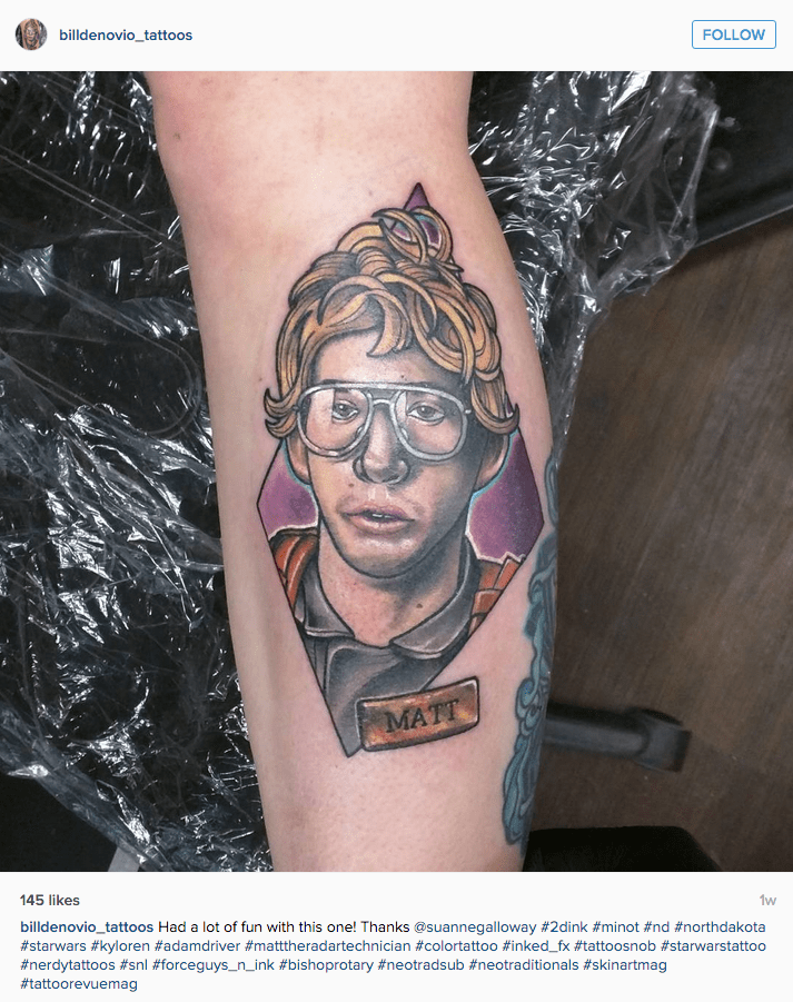 funny star wars tattoo Kylo Ren as SNL Undercover Boss character