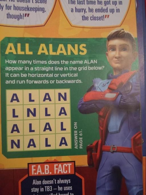 all alans word search