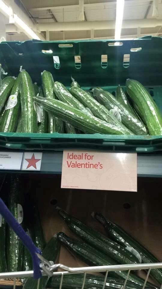 funny fail image valentine's day cucumber sign innuendo