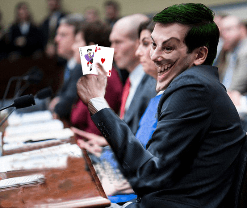 joker martin shkreli batman - 8749560576
