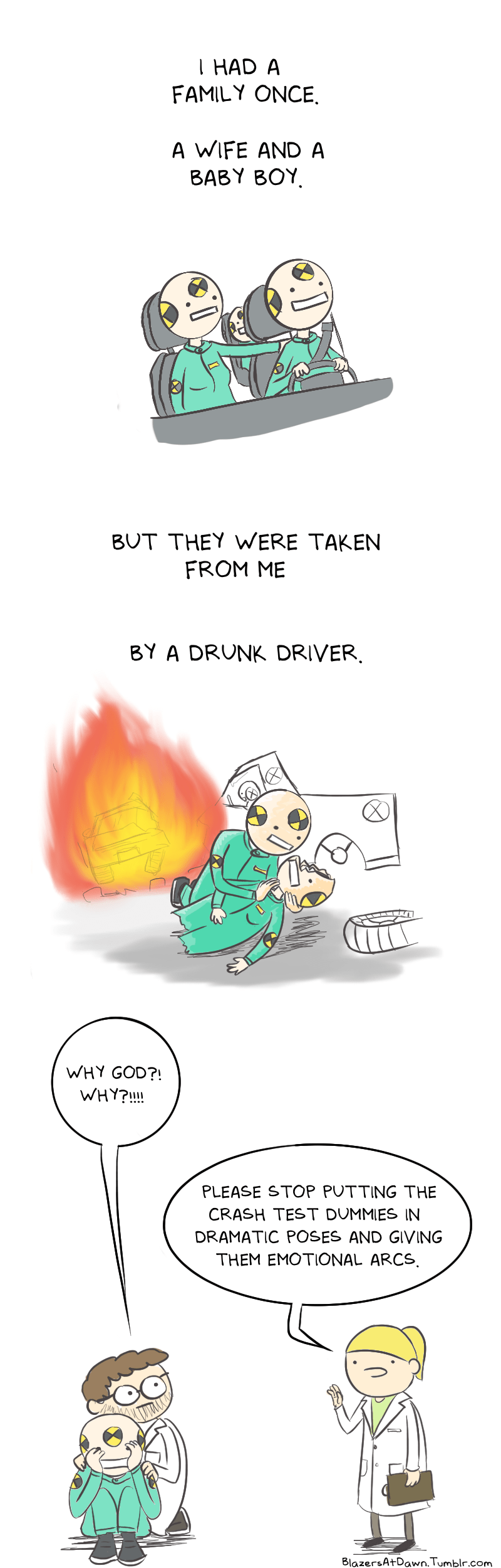 web comics crash test dummies It's Making These Crash Tests Feel Unethical