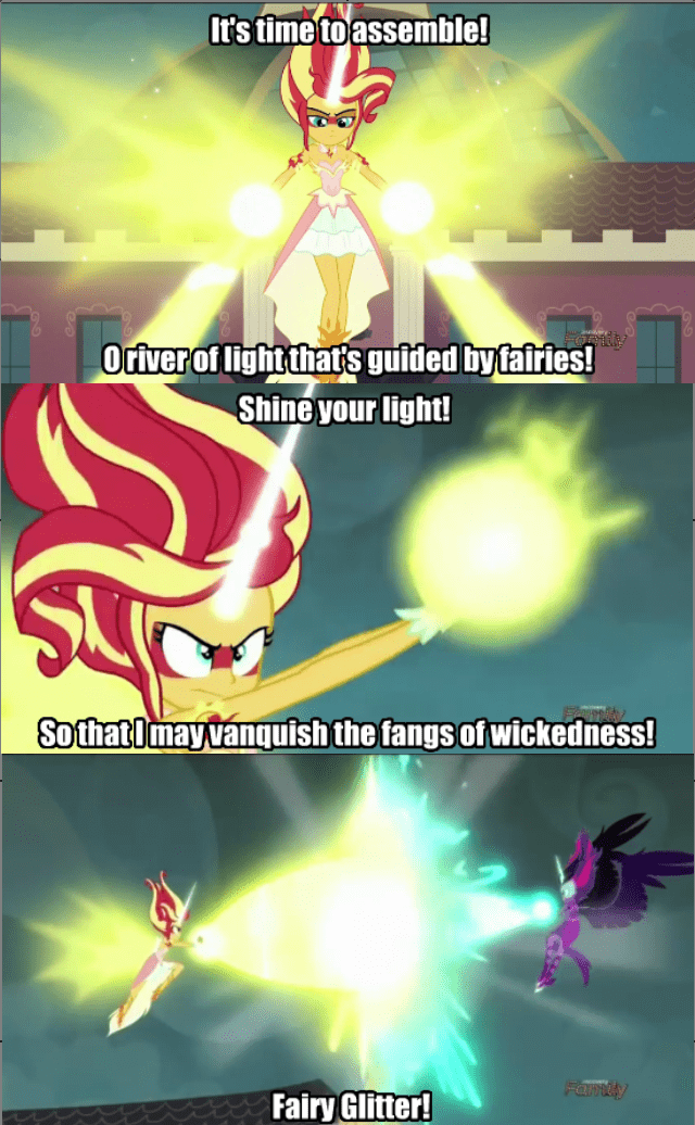 equestria girls twilight sparkle fairy tail sunset shimmer - 8749638144