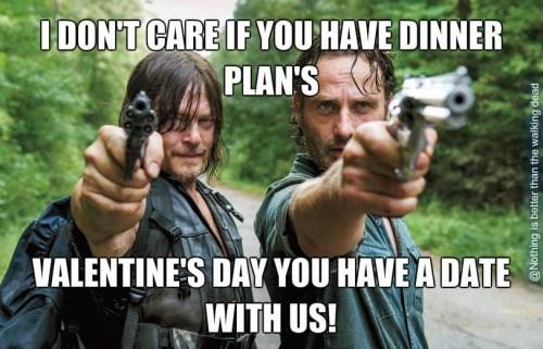 walking dead memes valentines date