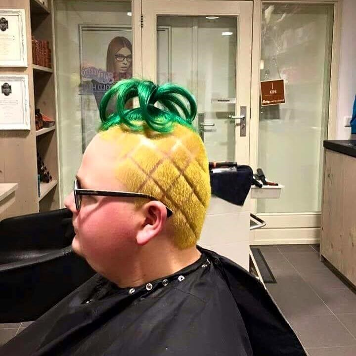 hair fashion SpongeBob SquarePants - 8749713152