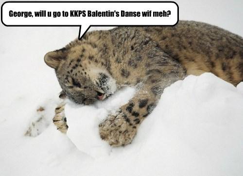 George, will u go to KKPS Balentin's Danse wif meh?