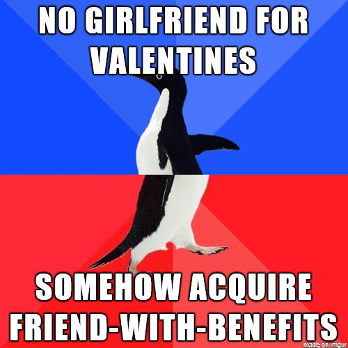 Valentines day,socially awkward awesome penguin