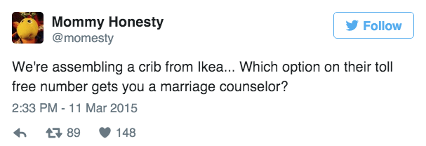 marriage ikea parenting tweet
