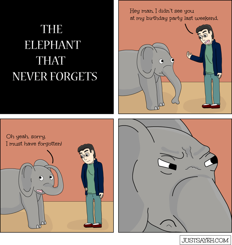 web comics elephant Well You Can Forget Our Friendship, Elephant