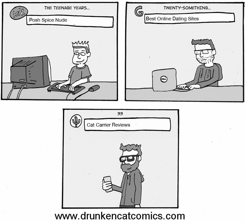 web comics growing up internet Priorities Change