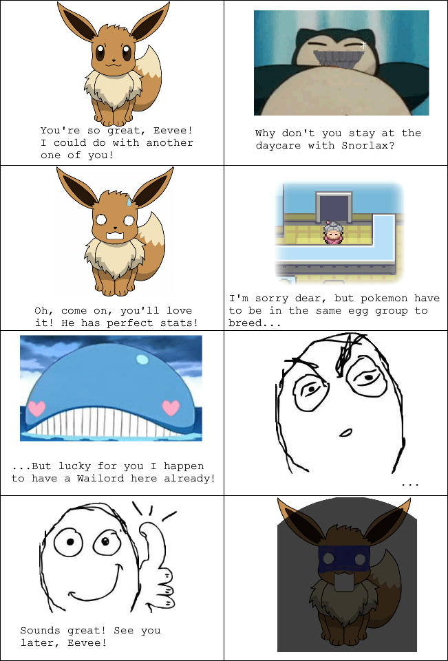 egg groups,eevee,Rage Comics