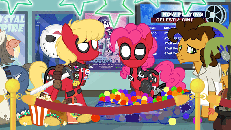 cosplay,deadpool,pinkie pie,cheese sandwich,ms harshwhinny