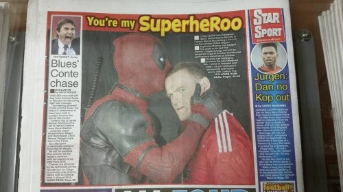 deadpool sports Congratulations on Your Sportsing, Have a Kiss