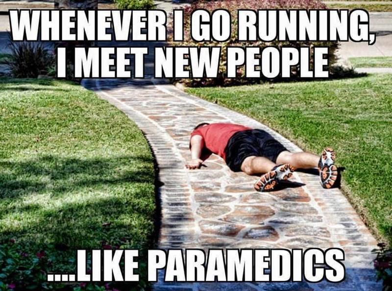 funny memes running meeting paramedics