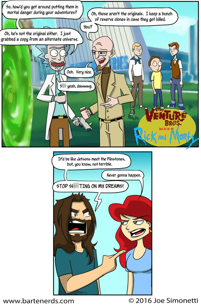 Fan Art Venture Bros web comics rick and morty - 8750385664
